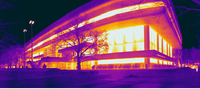 Kinetic Super Resolution Long-Wave Infrared Images of Buildings Indicate Sources of Energy Leaks